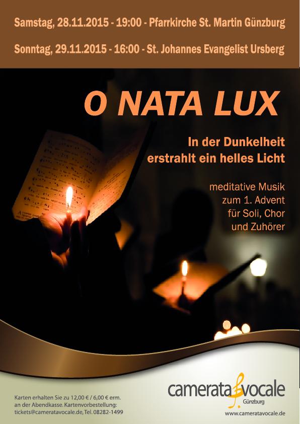 O NATA LUX - Adventskonzerte 2015